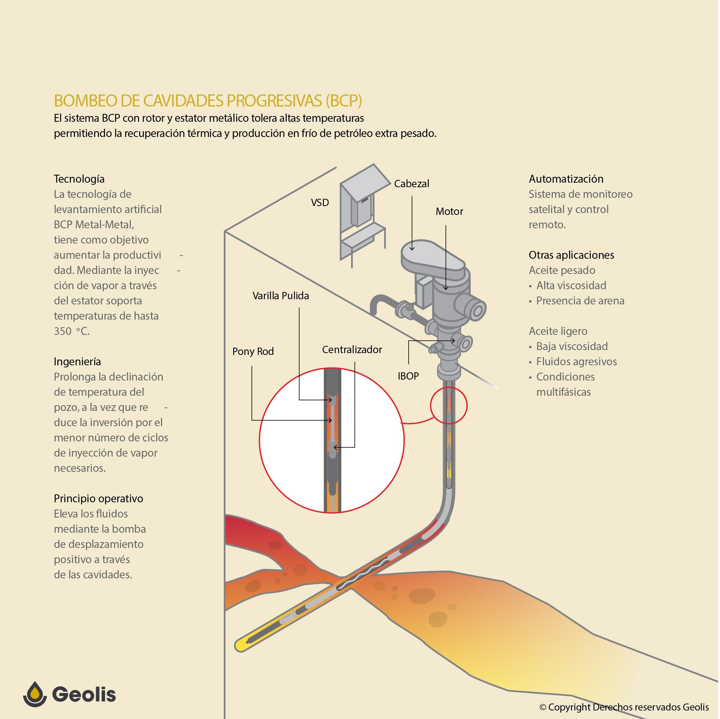 Infografía Bombeo cavidades Progresivas