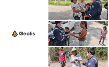 Geolis entrega insumos que contrarrestan la propagación  de la enfermedad COVID-19 a familias del estado de  Tabasco